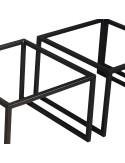 Industrialny stolik kawowy szerokie nogi rama spawana malowana proszkowo blaty -wybór